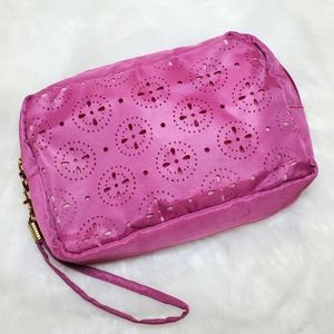 Pink Cut-Out Cosmetic Bag